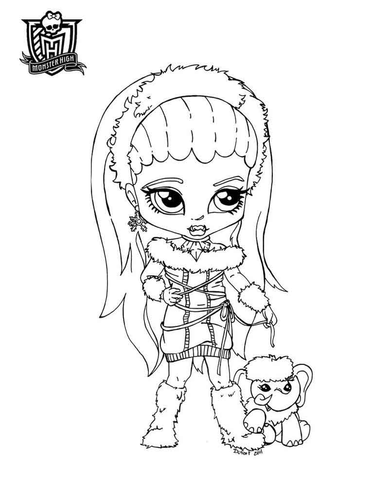 Monster High Coloring Pages Nefera De Nile