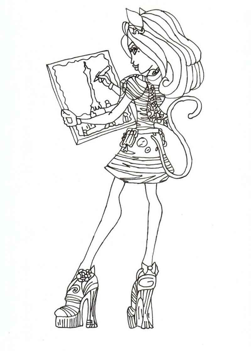 Monster High Coloring Pages To Print For Free Images