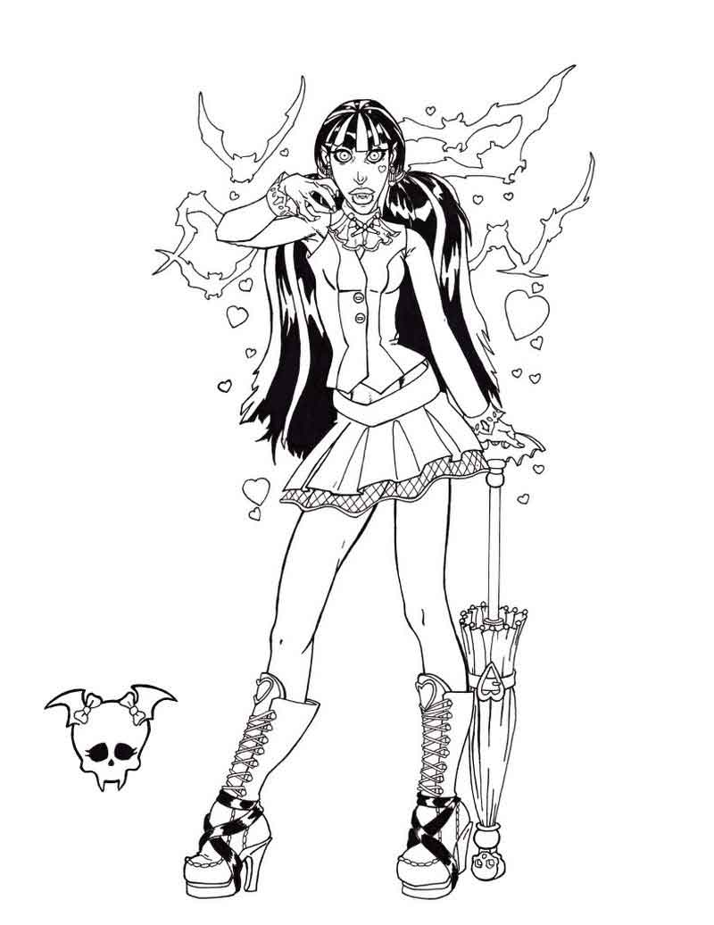 Monster High Coloring Pages To Print For Free