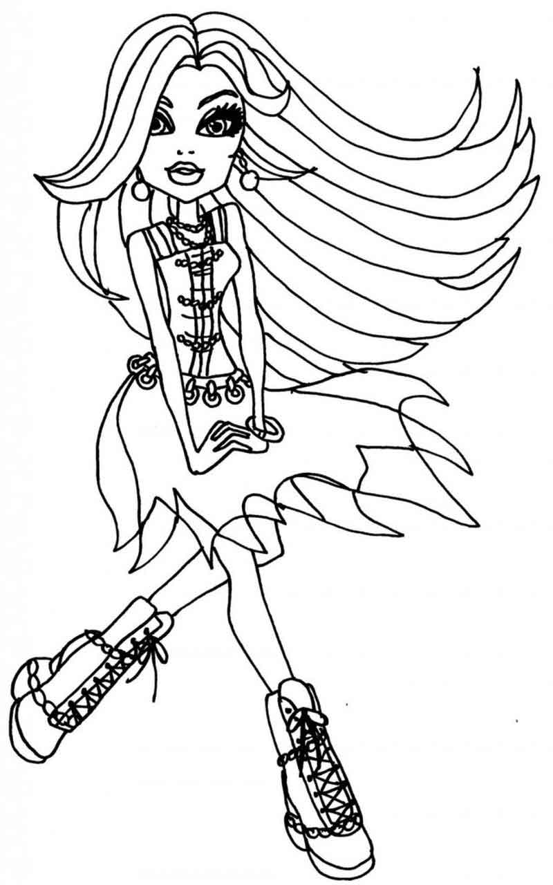 Monster High Dolls Coloring Pages Pictures