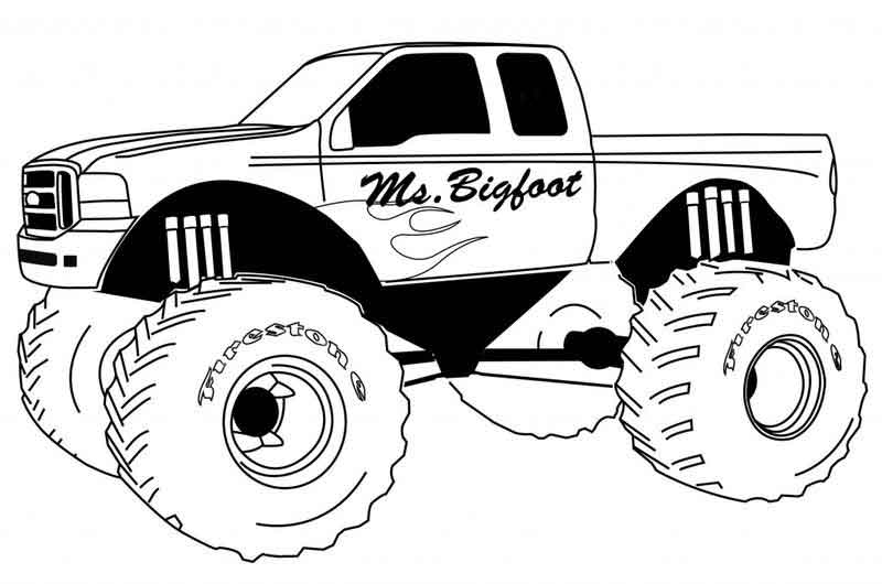 Monster Truck Color Pages