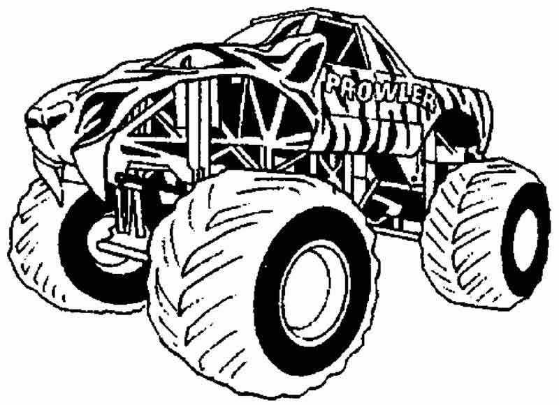 Monster Truck Coloring Pages Images