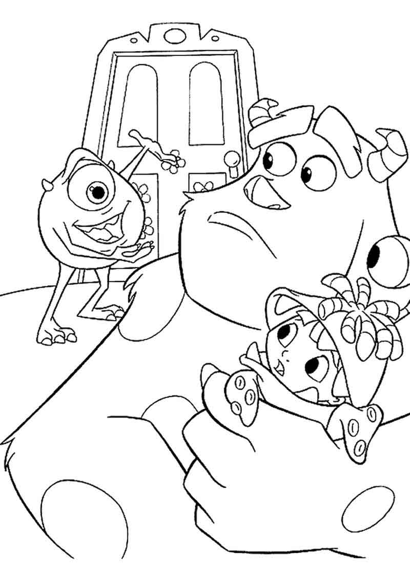 Monsters Inc Coloring Page Printable