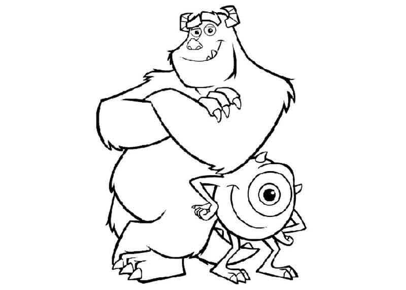 Monsters Inc Coloring Page Printables