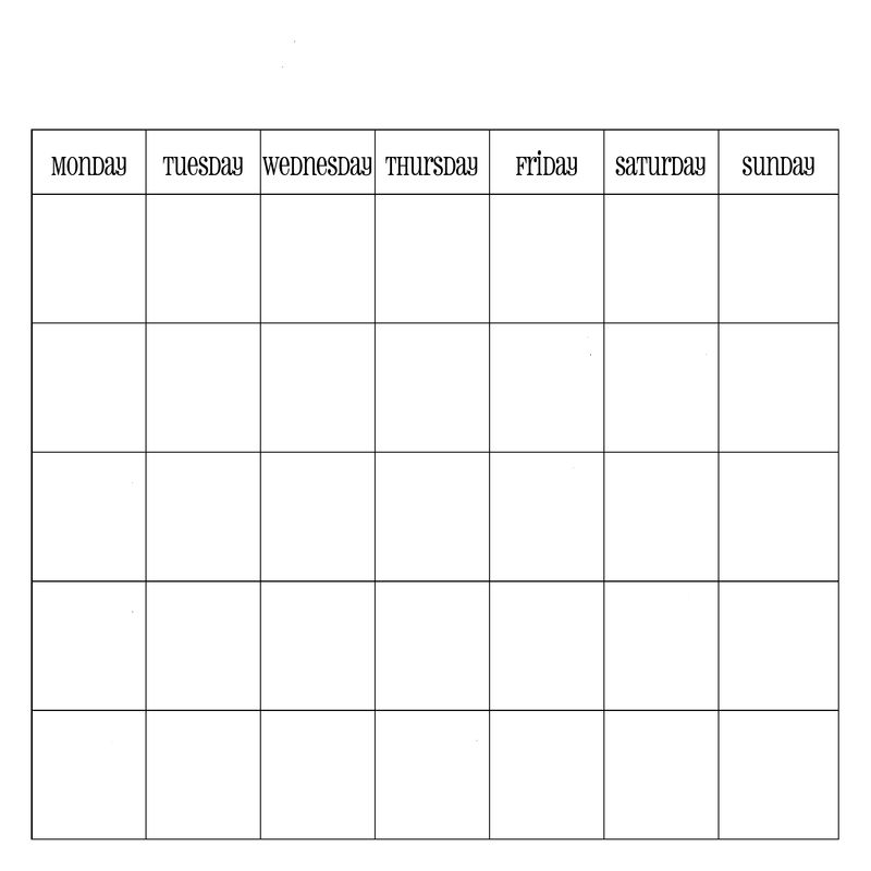 Monthly Calendar Printable With Simplicity