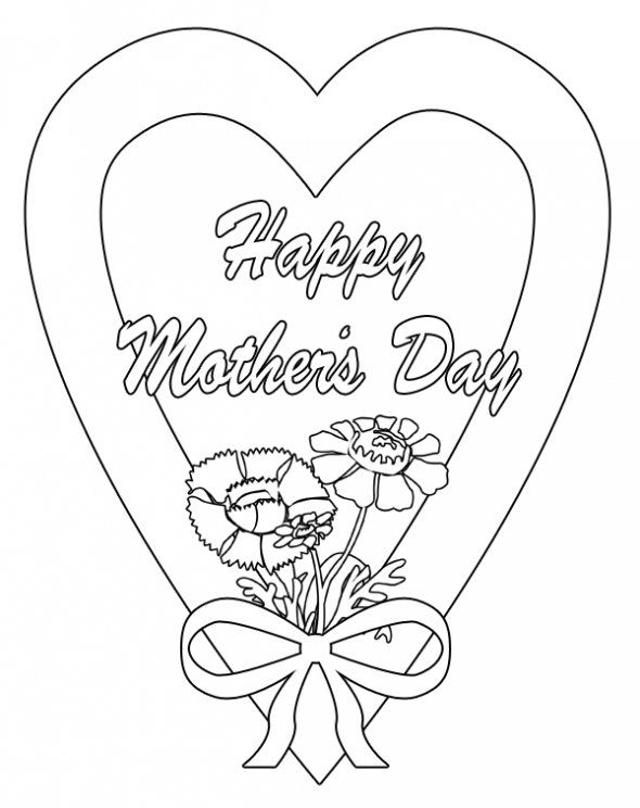 Mother Day Coloring Pages
