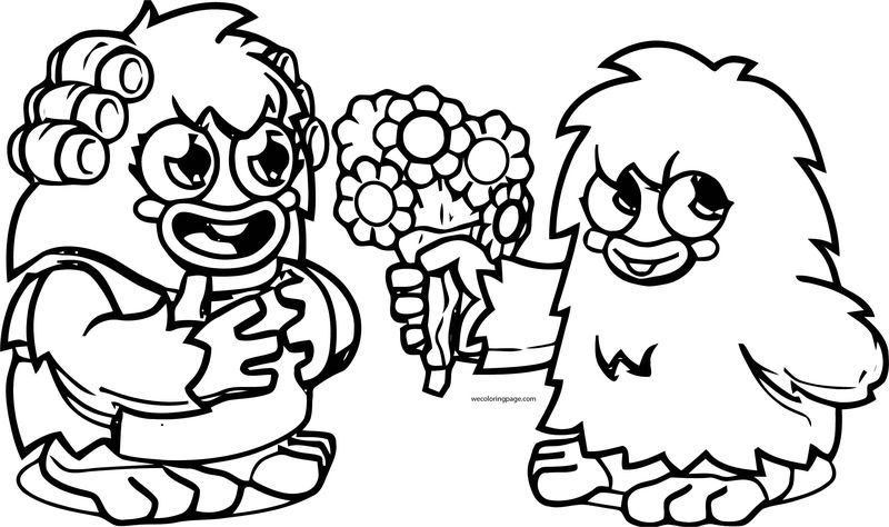 Mother Furi Flower Gift Coloring Page