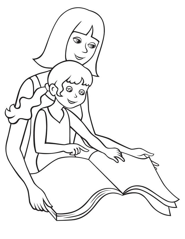Mothers Day Coloring Page Free
