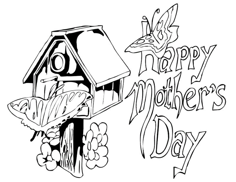 Mothers Day Free Coloring Pages