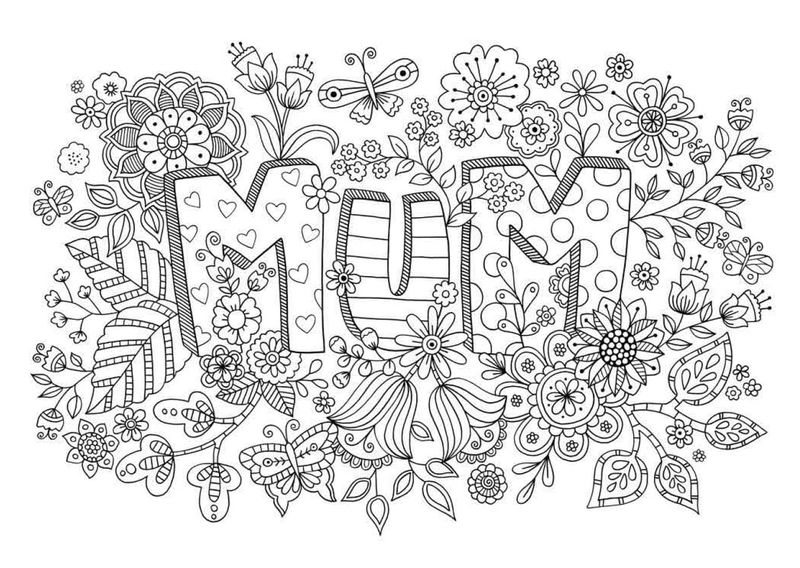 Mothers Day Mum Coloring Pages