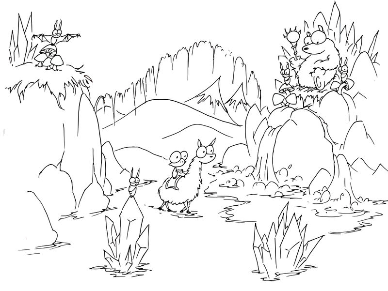Mountain Animals Coloring Page 001
