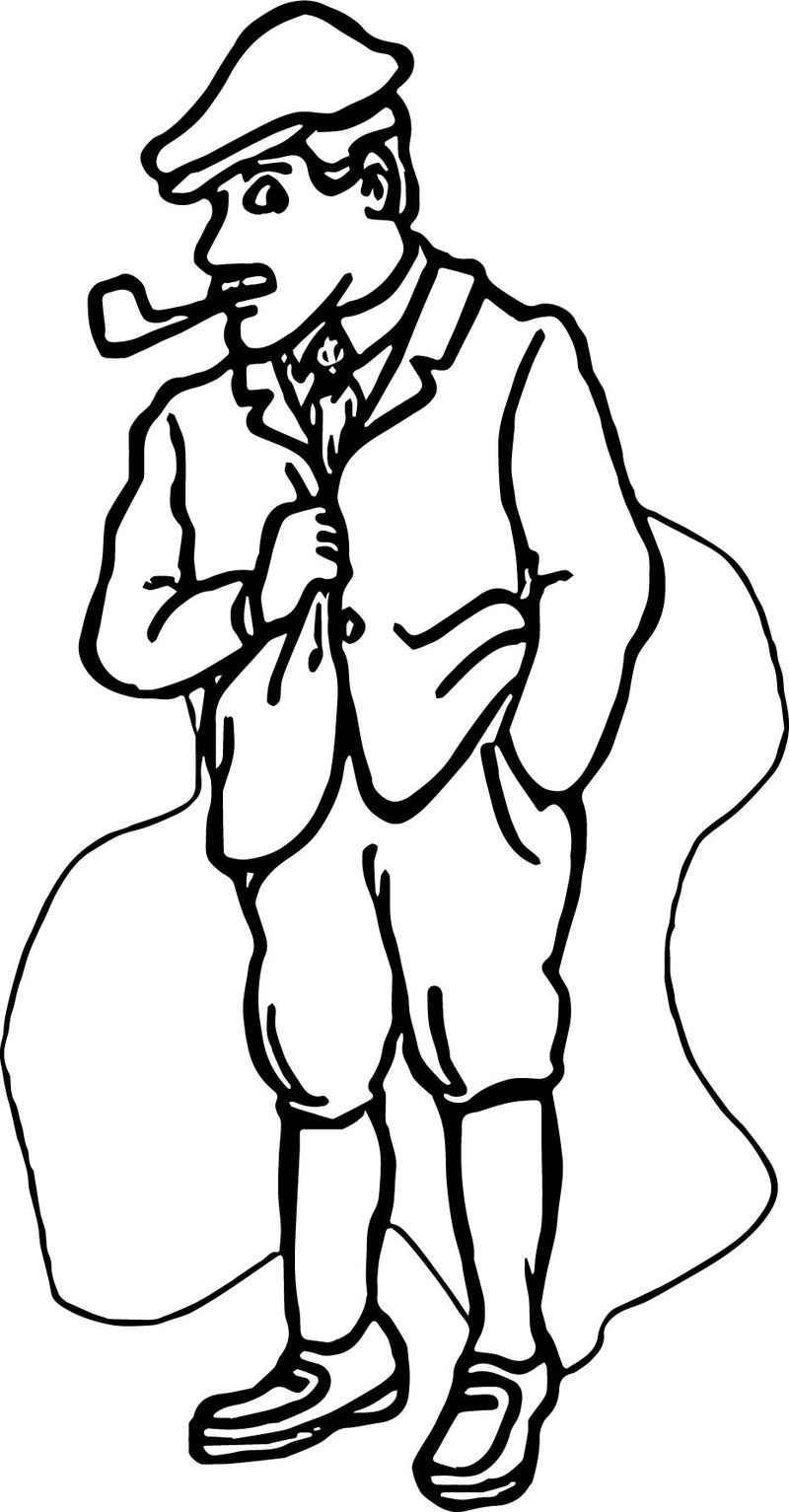 Mr English Teacher Coloring Page