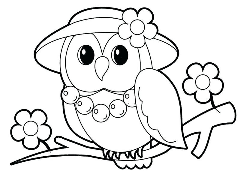 Mrs Owl Animal Coloring Pages