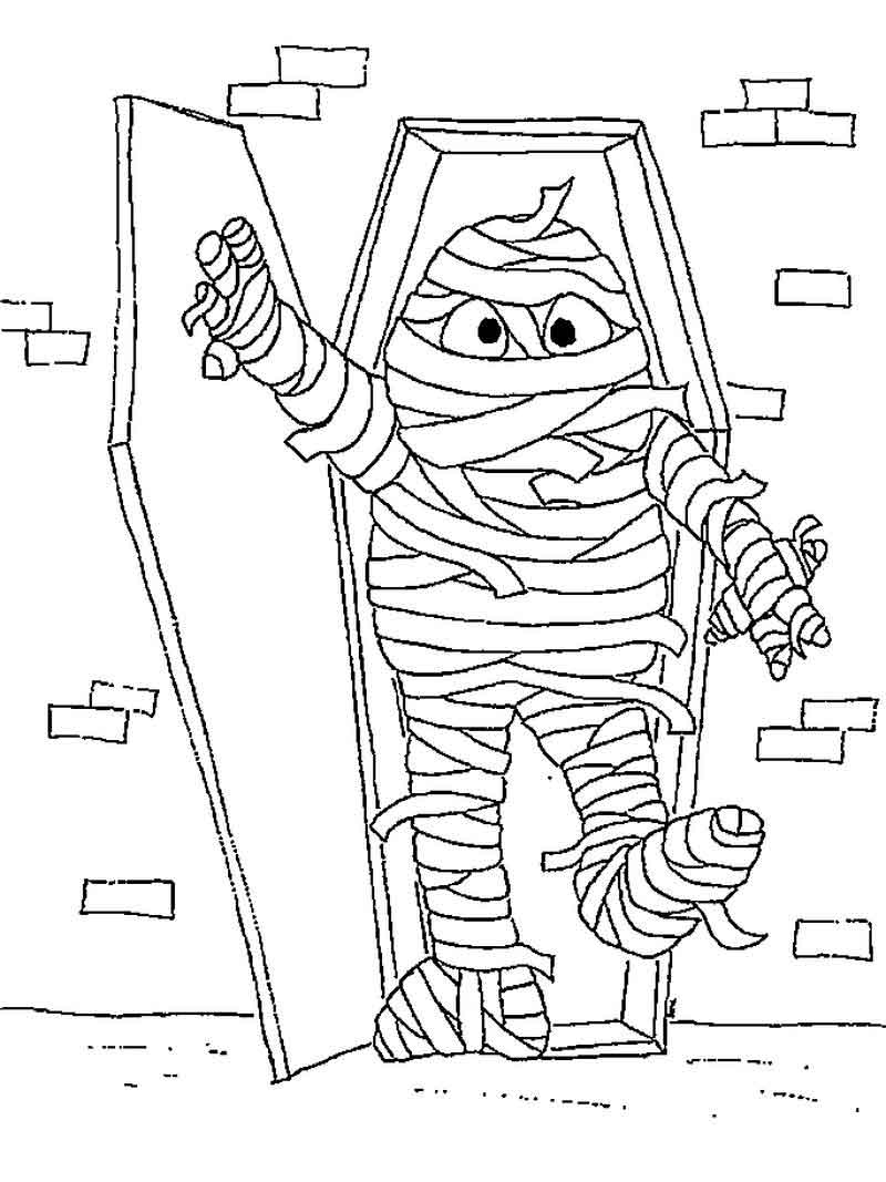 Mummy Coloring Pages For Kids