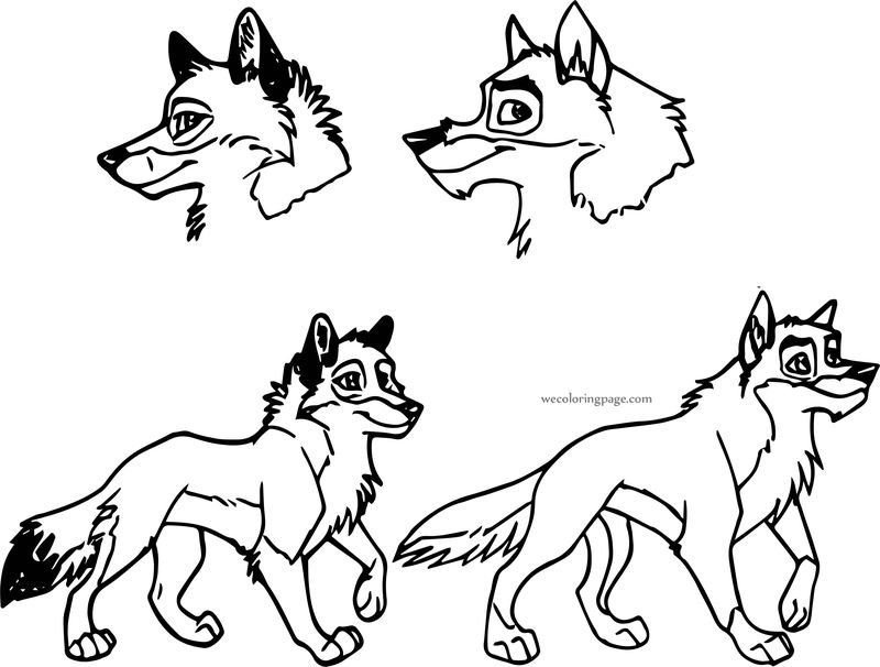 My Style Vs Balto Style Wind Wolf Coloring Page
