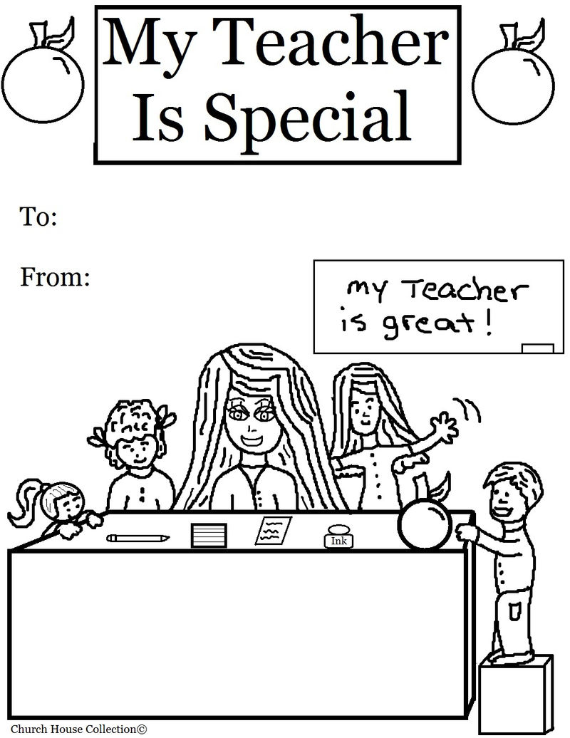 My Teacher Is Special Coloring Page