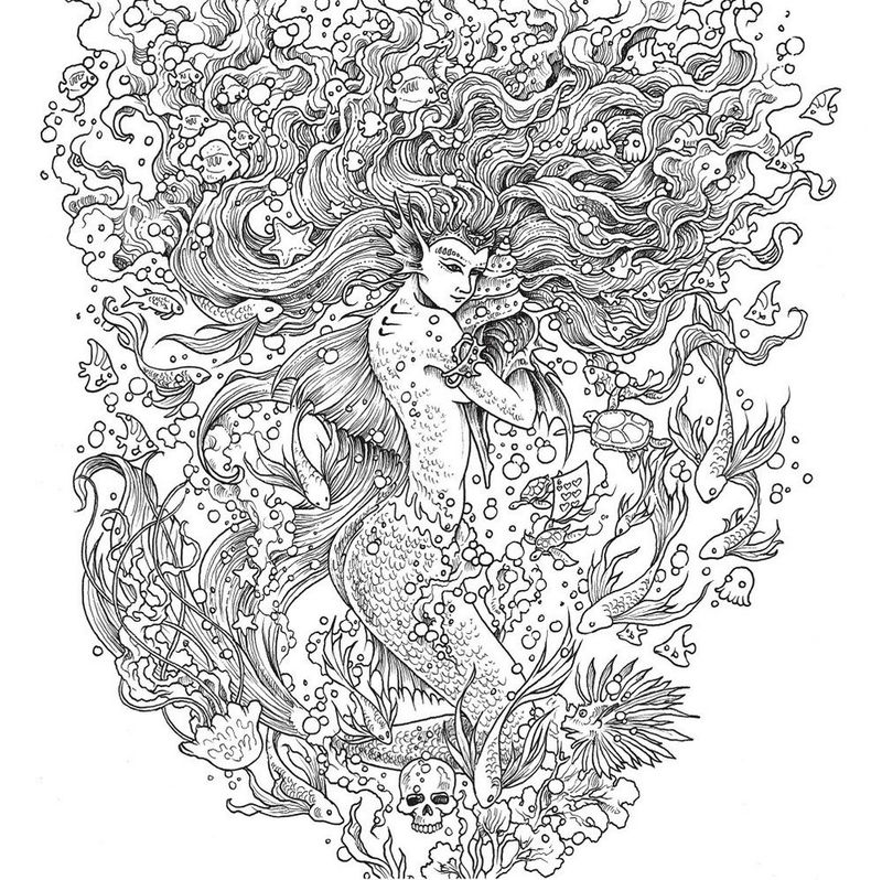Mythomorphia Mermaid Coloring Book
