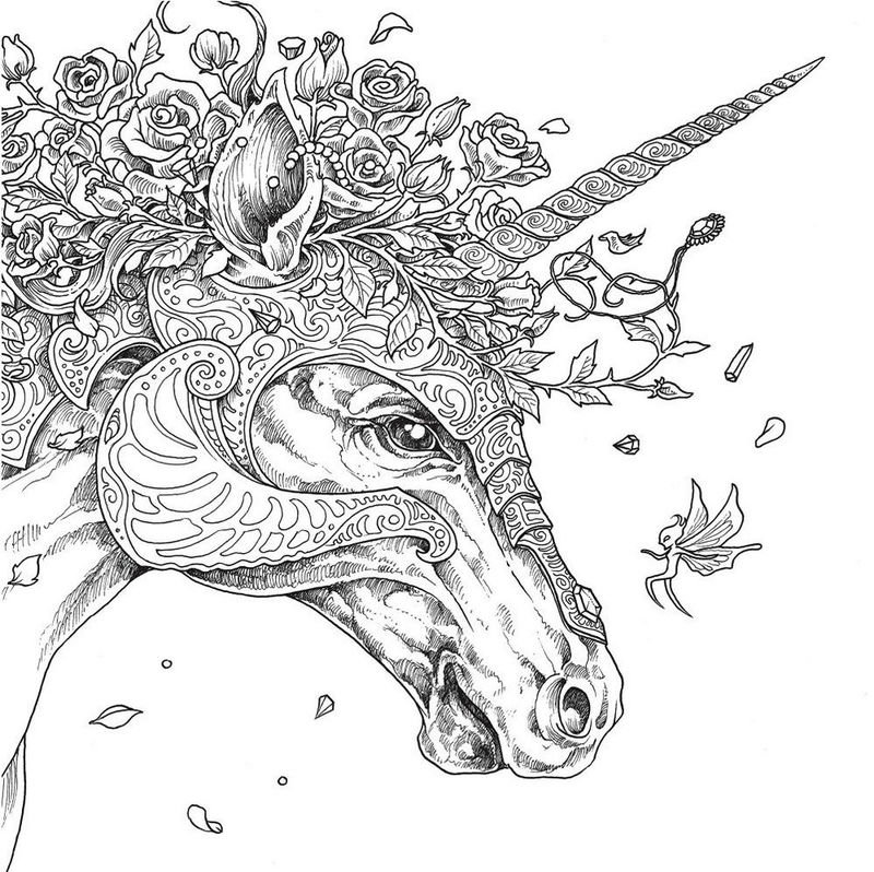 Mythomorphia Unicorn Coloring Book