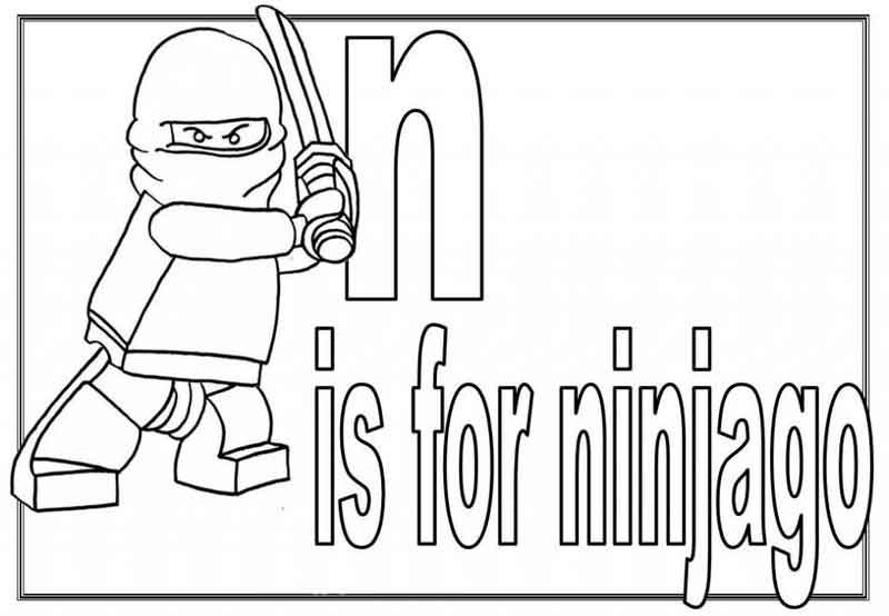 N Is For Ninjago Coloring Page