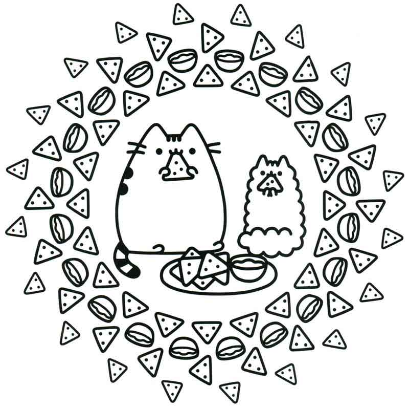 Nacho Cats Pusheen Coloring Pages