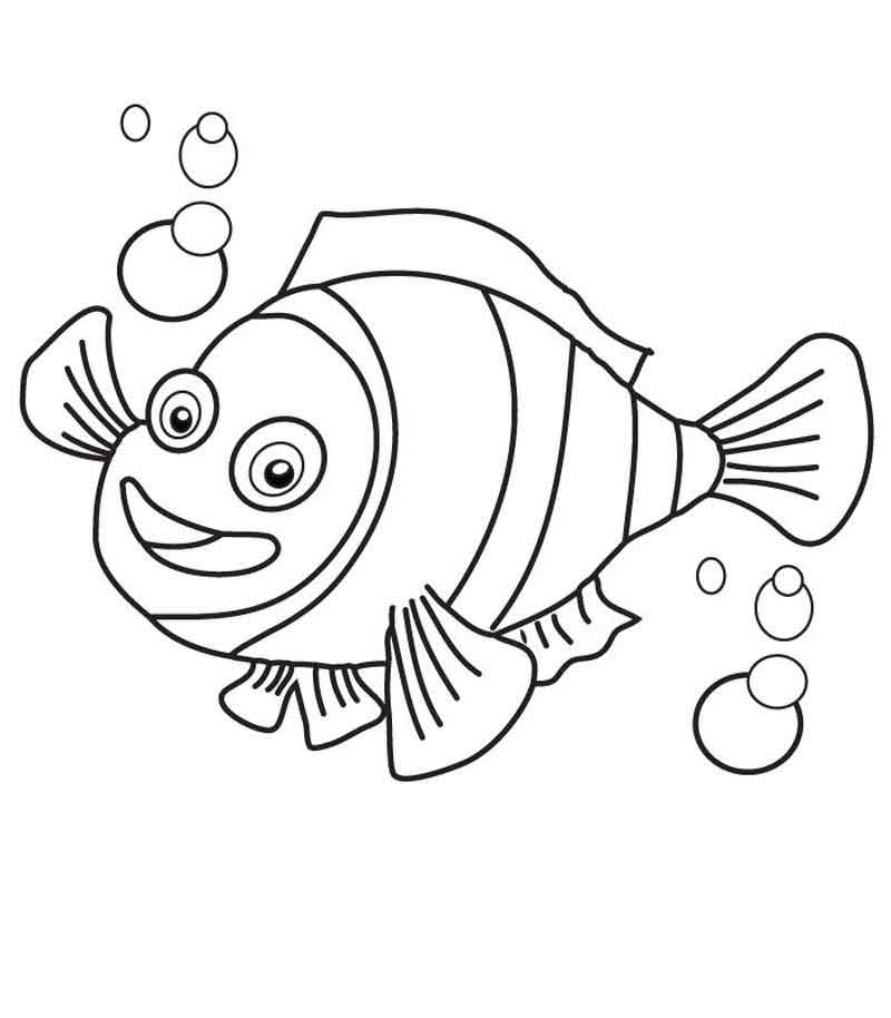 Nemo Coloring Pages For Kids