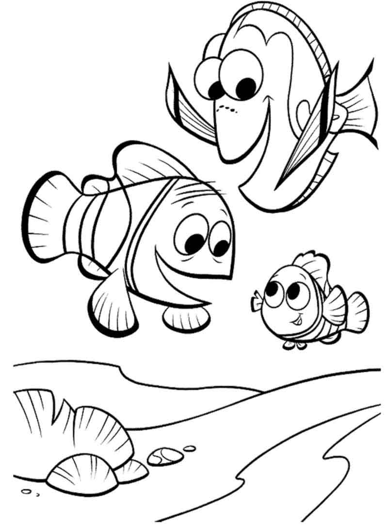 Nemo Coloring Pages Photos