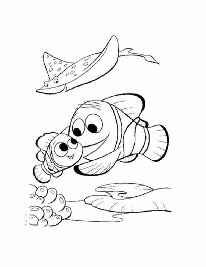 Nemo Coloring Pages Printable For Kids