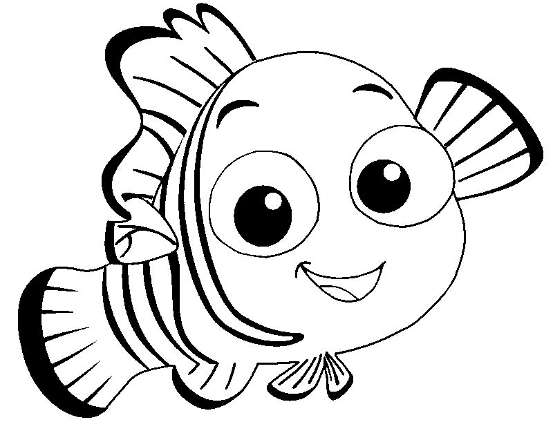 Nemo Cute Fish Coloring Pages