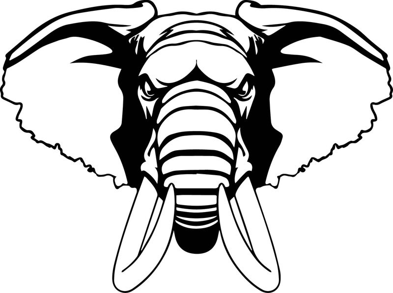 Nerve Elephant Coloring Page