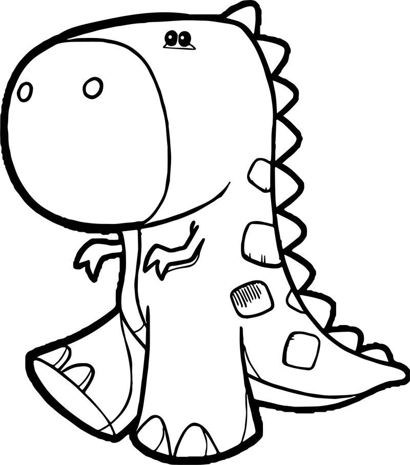 New Baby Dinosaur Coloring Page