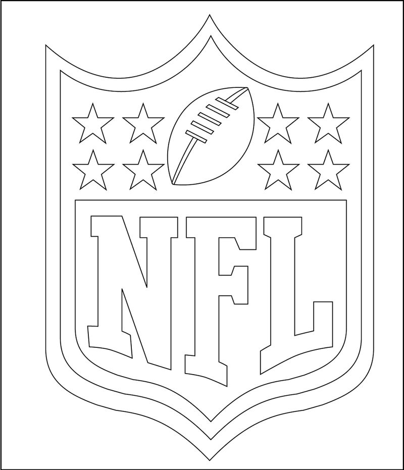 Nfl National Football League Coloring Logo Pages