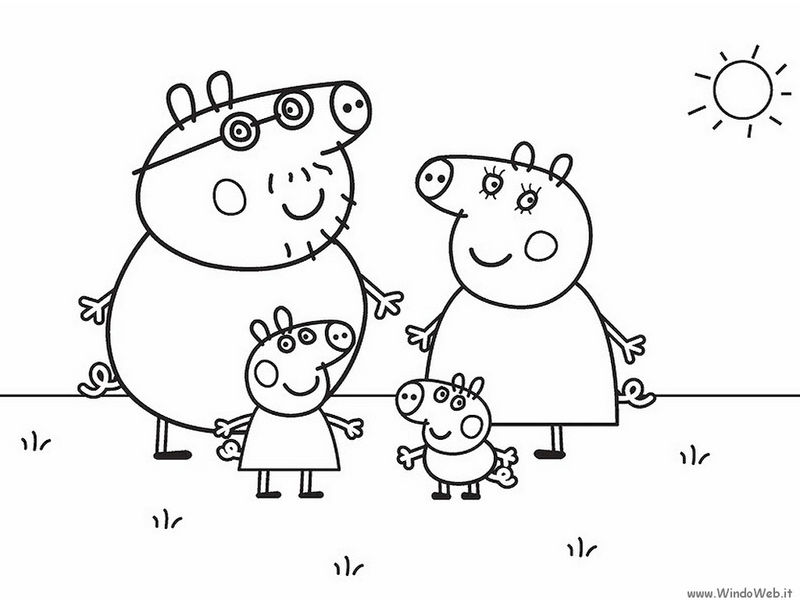 Nick Jr Peppa Pig Coloring Pages