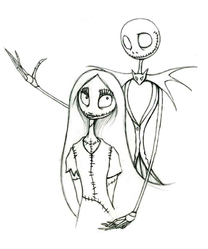 Nightmare Before Christmas Coloring Free