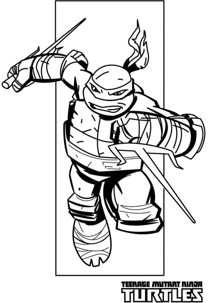 Ninja Sais Teenage Mutant Ninja Turtles Coloring Pages