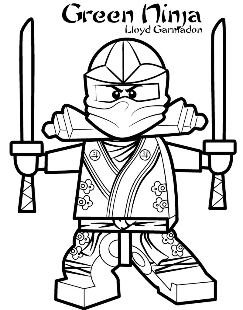 Ninja Combat Coloring Pages