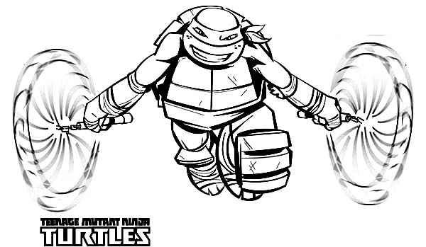 Ninja Turtles Michealangelo Tmnt Colouring Pages