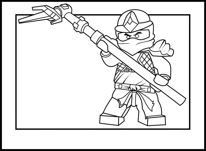 Ninjago kai coloring pages
