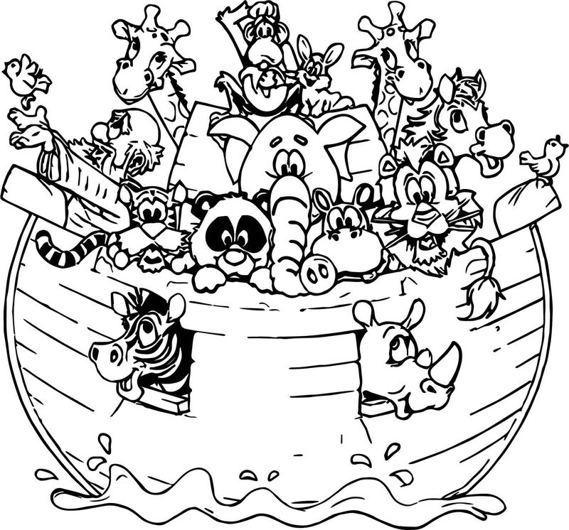 Noah Ark All Animal Coloring Page