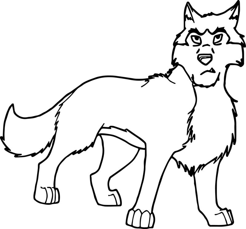Nuk Balto Wolf Coloring Page