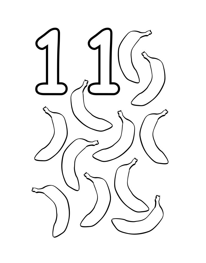 Number 11 Coloring Pages