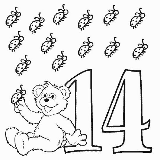 Number 14 Coloring Page