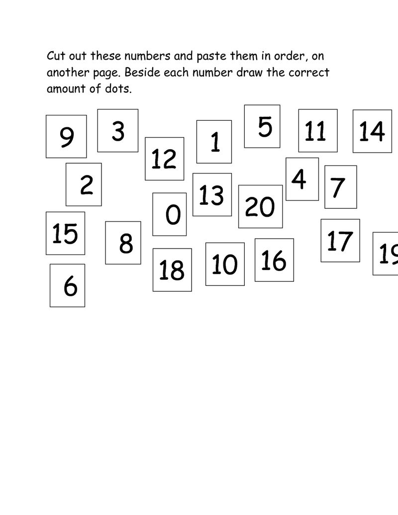 Number 20 Worksheet Counting