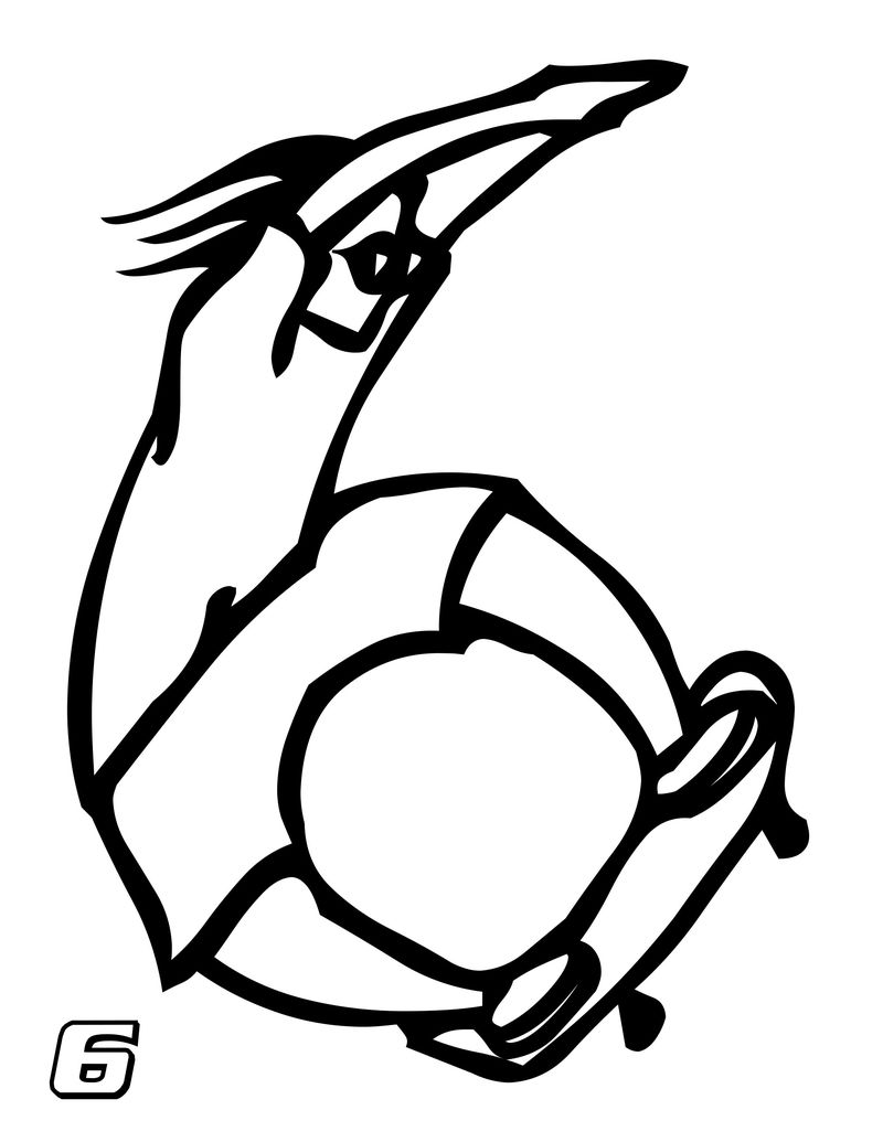 Number 6 Coloring Pages