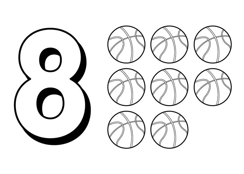 Number 8 Coloring Pages