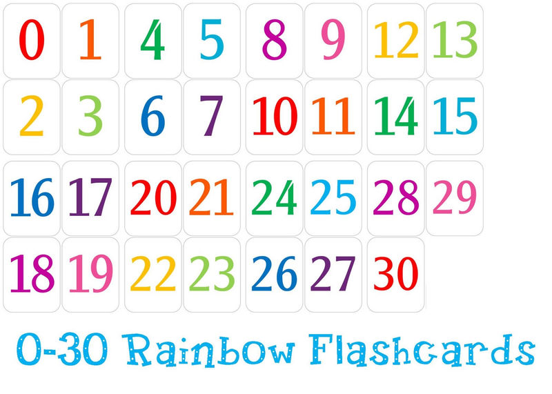 Number Chart 1 30 Colorful