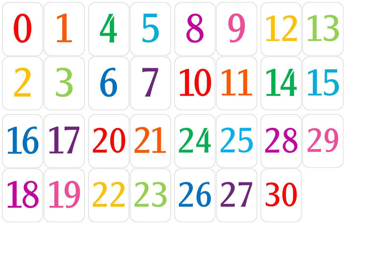 Number chart 1 30 for kids 001