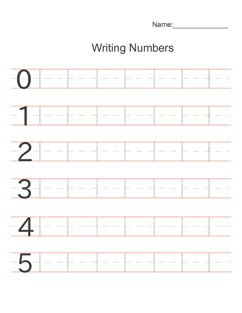Number Practice Sheets Free