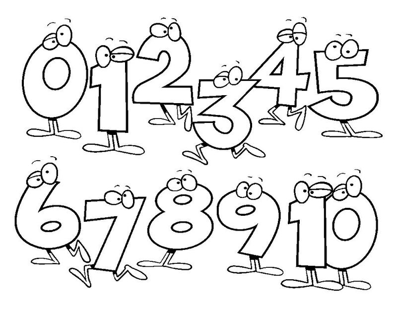 Numbers Coloring Page For Kindergarten