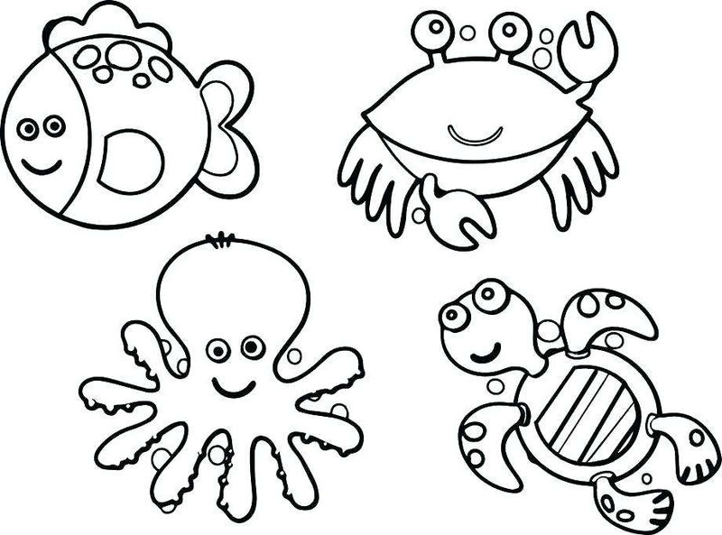 Ocean Animals Coloring Pages 001