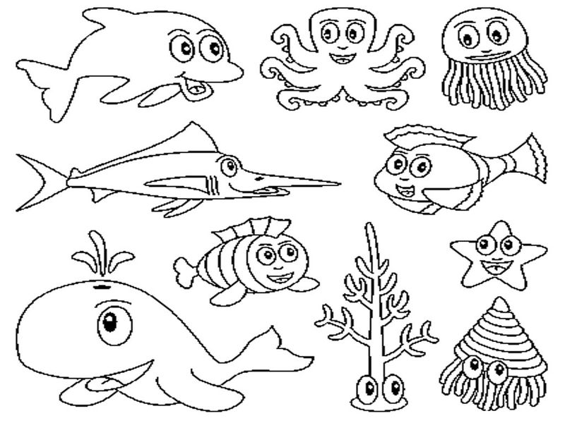 Ocean Animals Coloring Pages 002